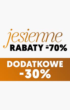Dodatkowe -30% na Rabat do -70%