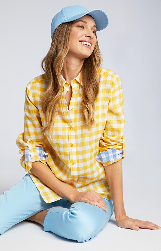 Żółta koszula damska WÓLCZANKA