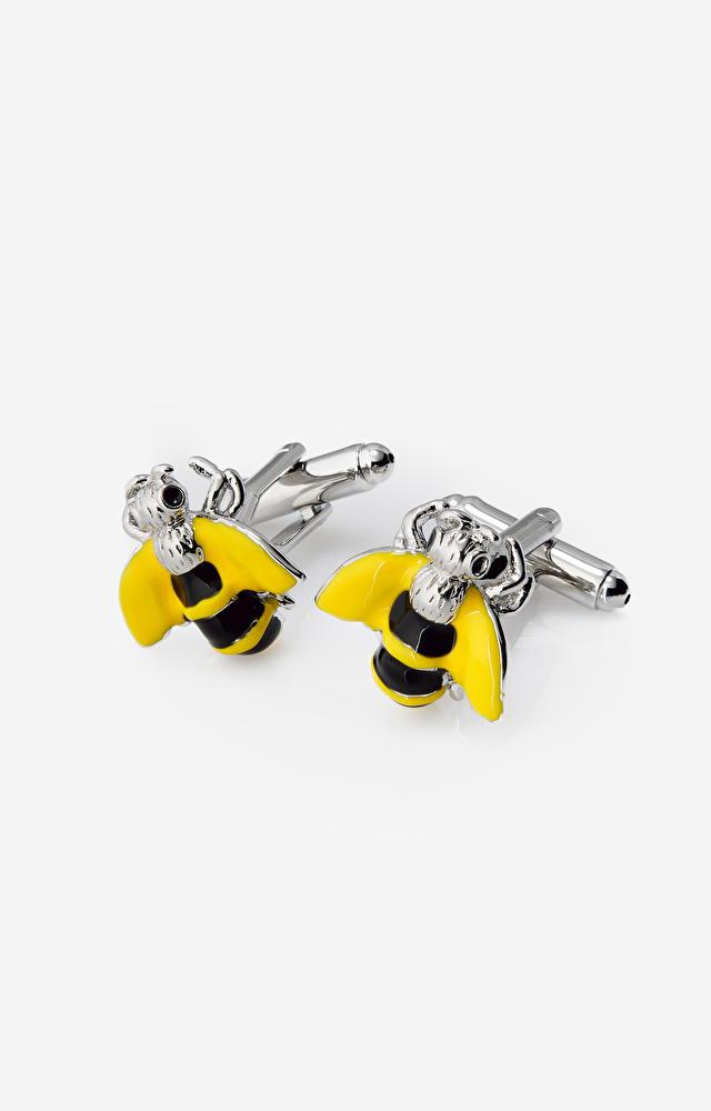 Żółte spinki do mankietów LAMBERT