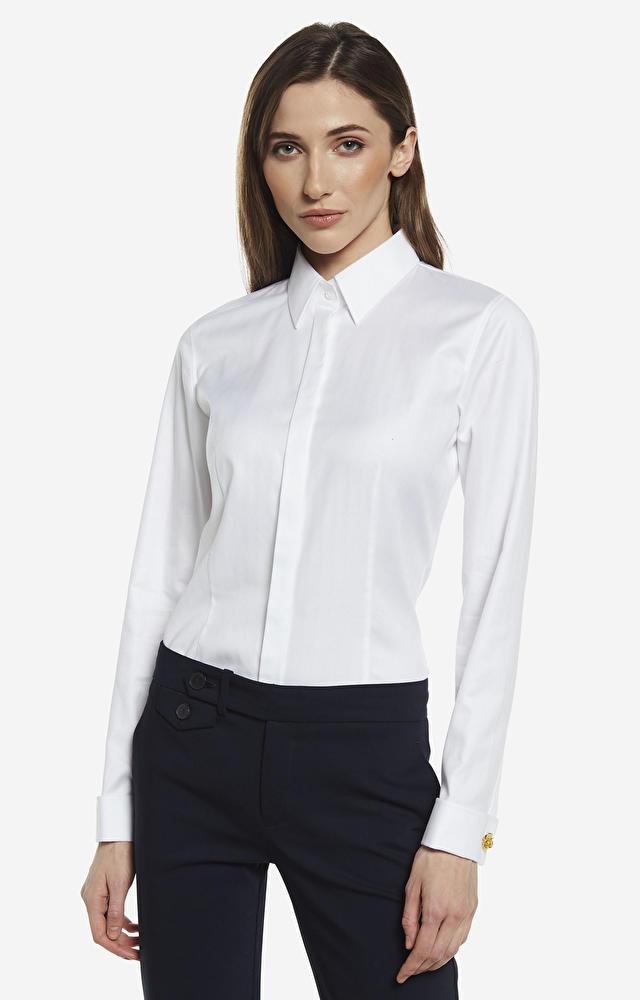 Biała koszula damska WÓLCZANKA