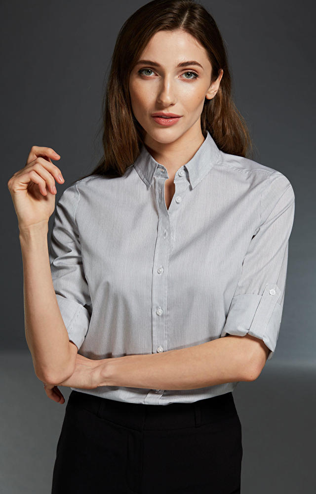 Szara koszula damska LAMBERT