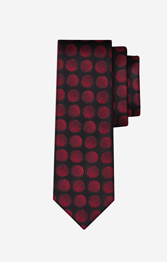 Bordowy krawat WÓLCZANKA