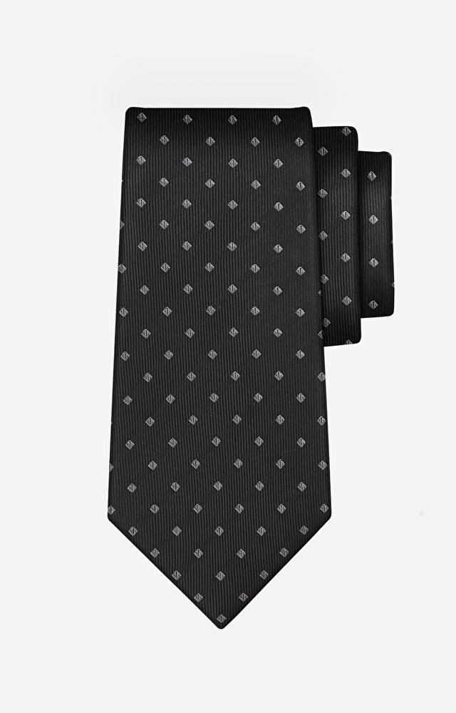 Czarny krawat WÓLCZANKA