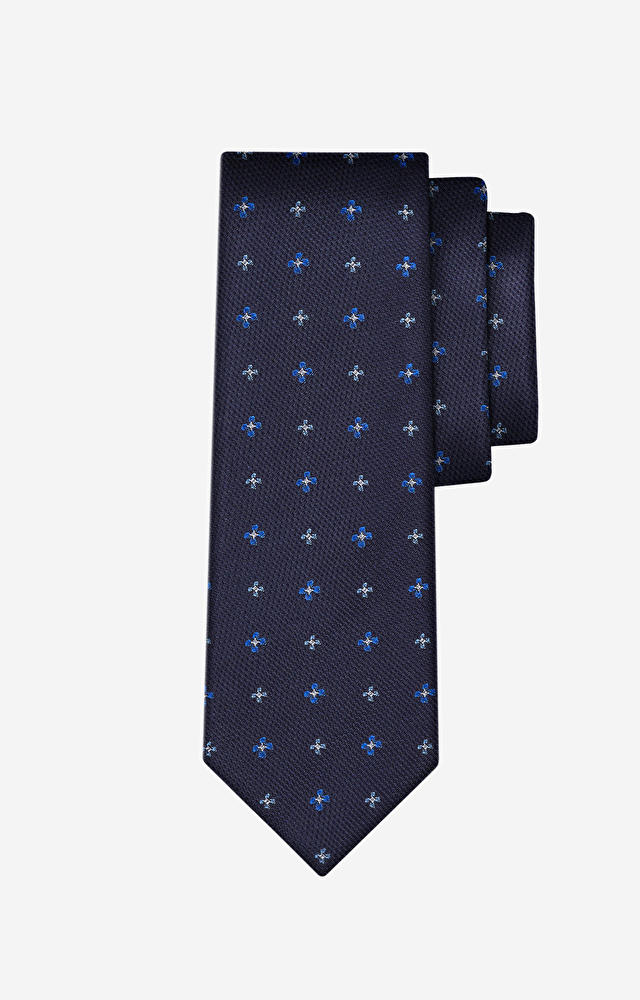 Granatowy krawat WÓLCZANKA