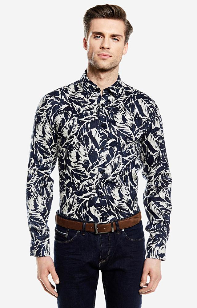Granatowa koszula LAMBERT