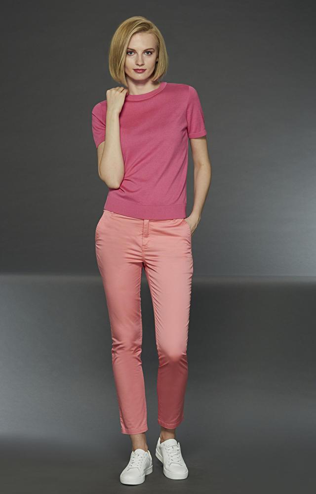 Różowe spodnie damskie LAMBERT