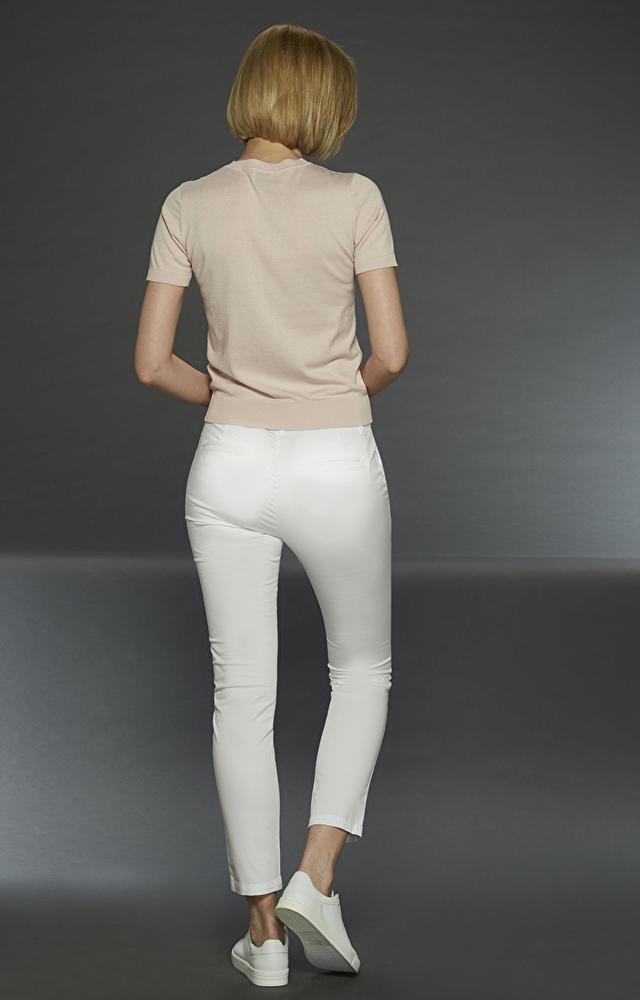 Białe spodnie LAMBERT