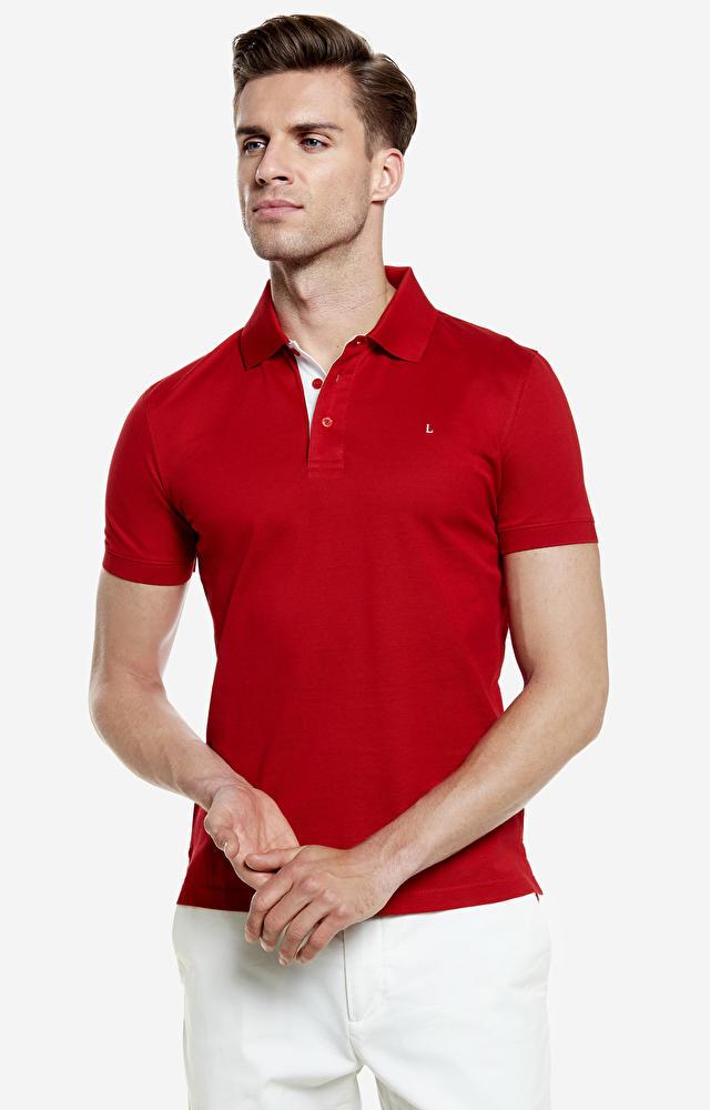 Czerwone polo LAMBERT