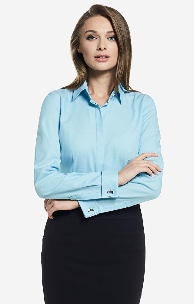 Niebieska koszula damska WÓLCZANKA