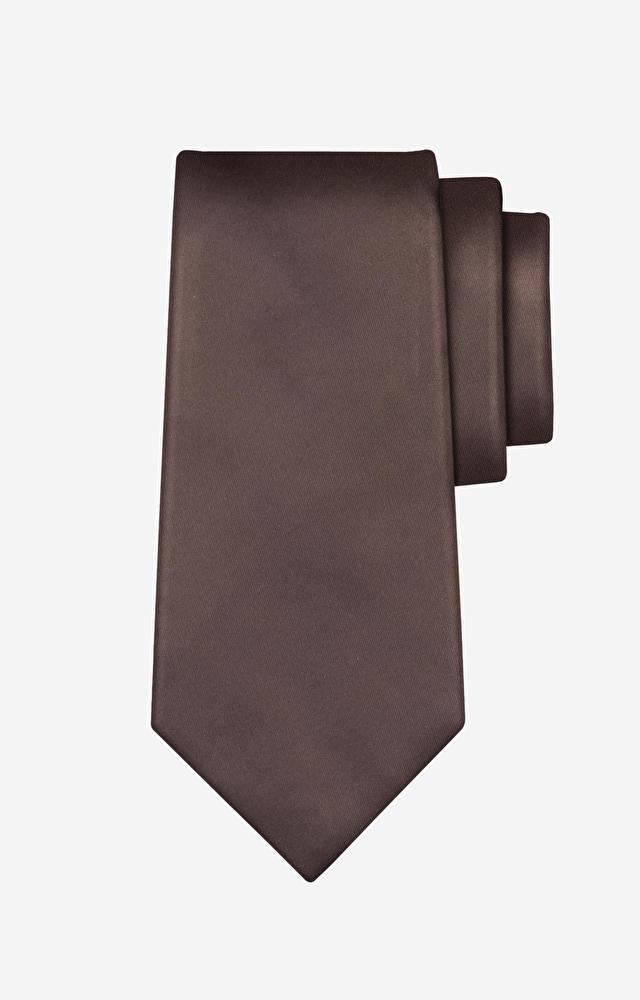 Brązowy krawat WÓLCZANKA