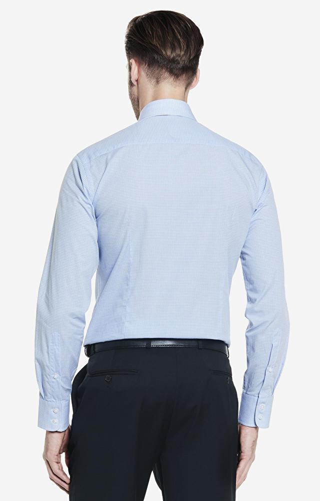 Niebieska koszula męska WÓLCZANKA