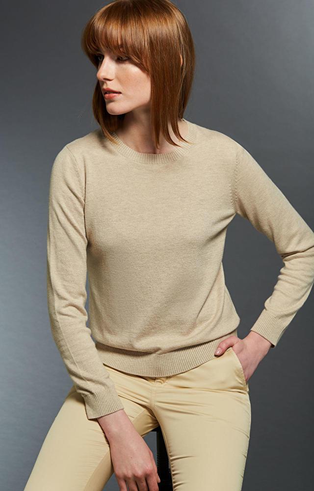 Beżowy sweter damski WÓLCZANKA