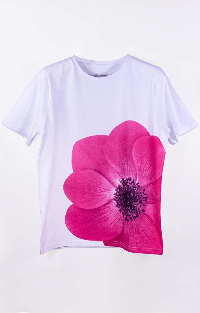 Biały t-shirt damski WÓLCZANKA