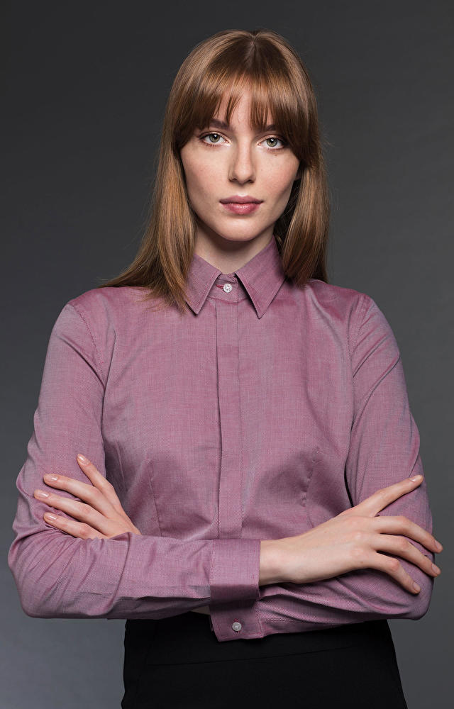 Bordowa koszula damska LAMBERT