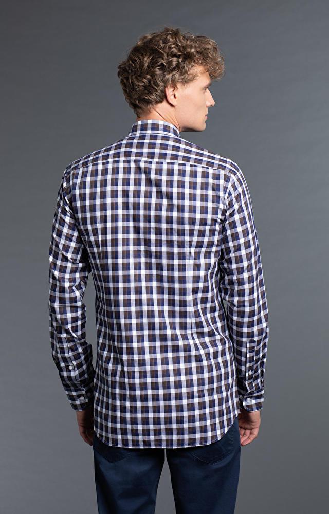 Brązowa koszula męska WÓLCZANKA