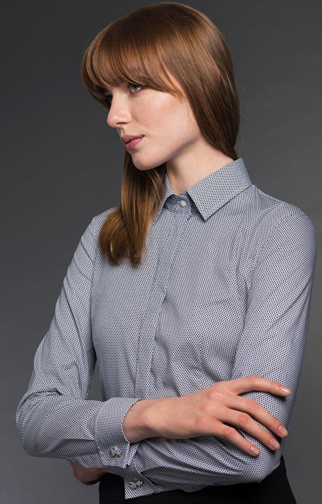 Czarna koszula damska LAMBERT