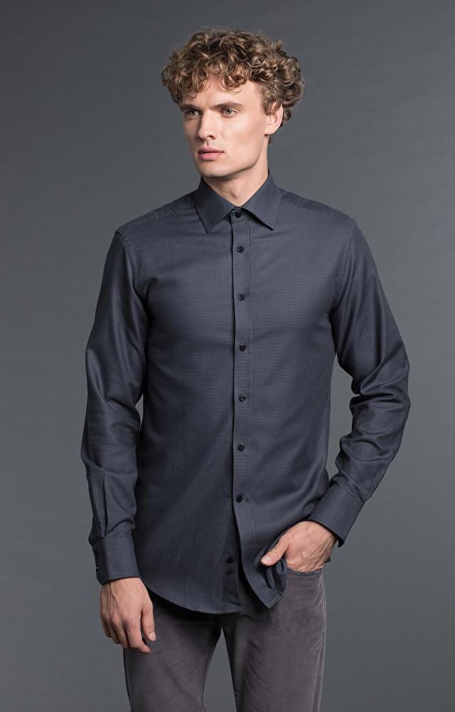 Czarna koszula męska LAMBERT