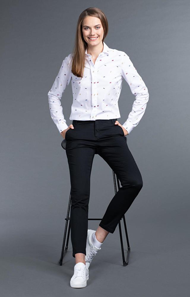 Czarne spodnie damskie WÓLCZANKA