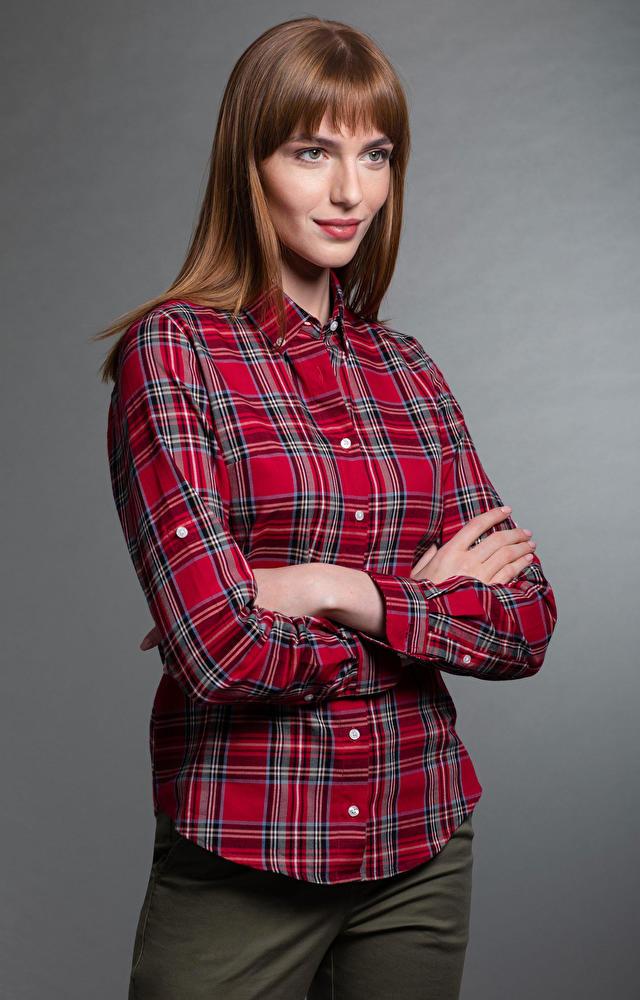 Czerwona koszula damska LAMBERT
