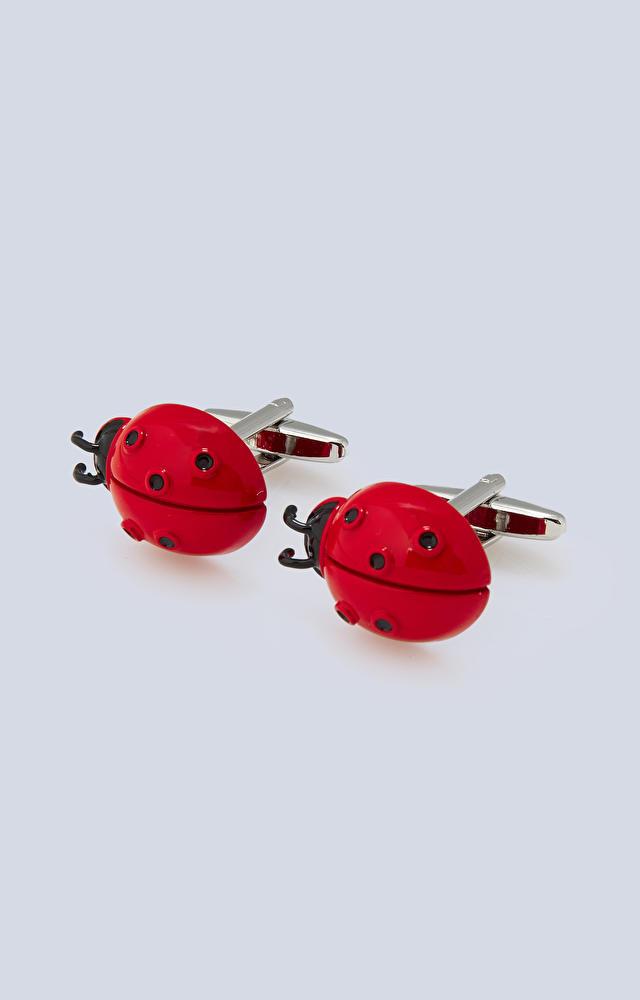 Czerwone spinki do mankietów LAMBERT