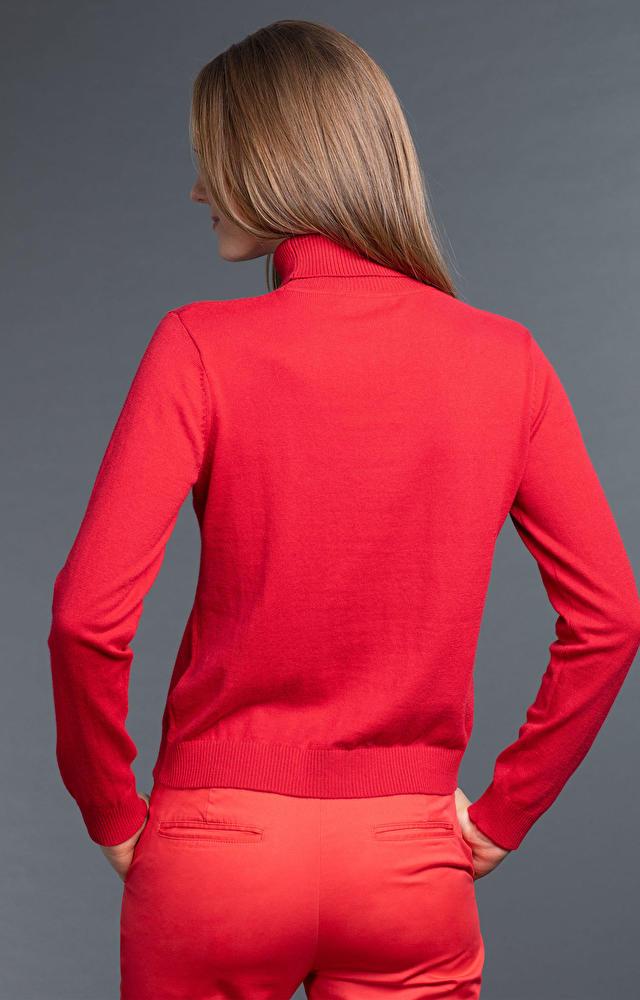 Czerwony golf damski WÓLCZANKA