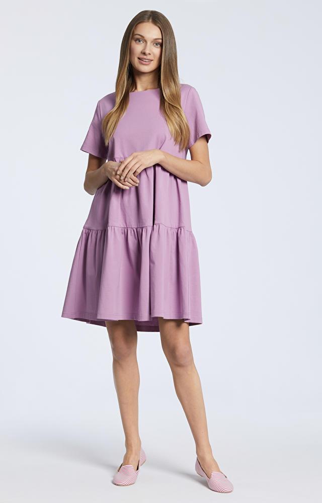 Fioletowa sukienka WÓLCZANKA