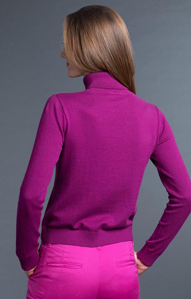 Purpurowy golf damski WÓLCZANKA
