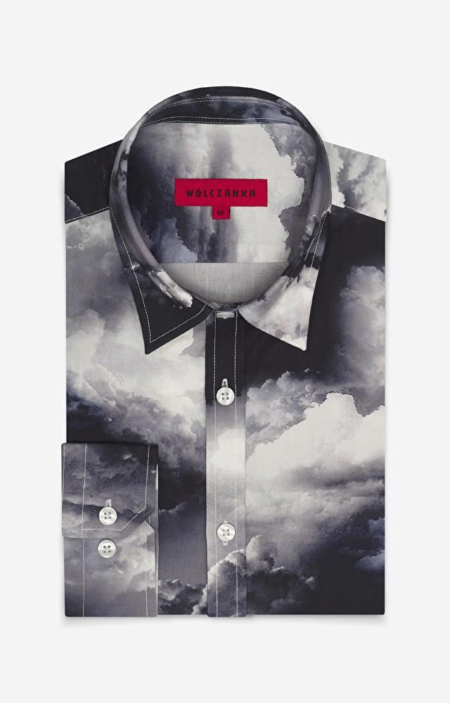 Grafitowa koszula męska WÓLCZANKA