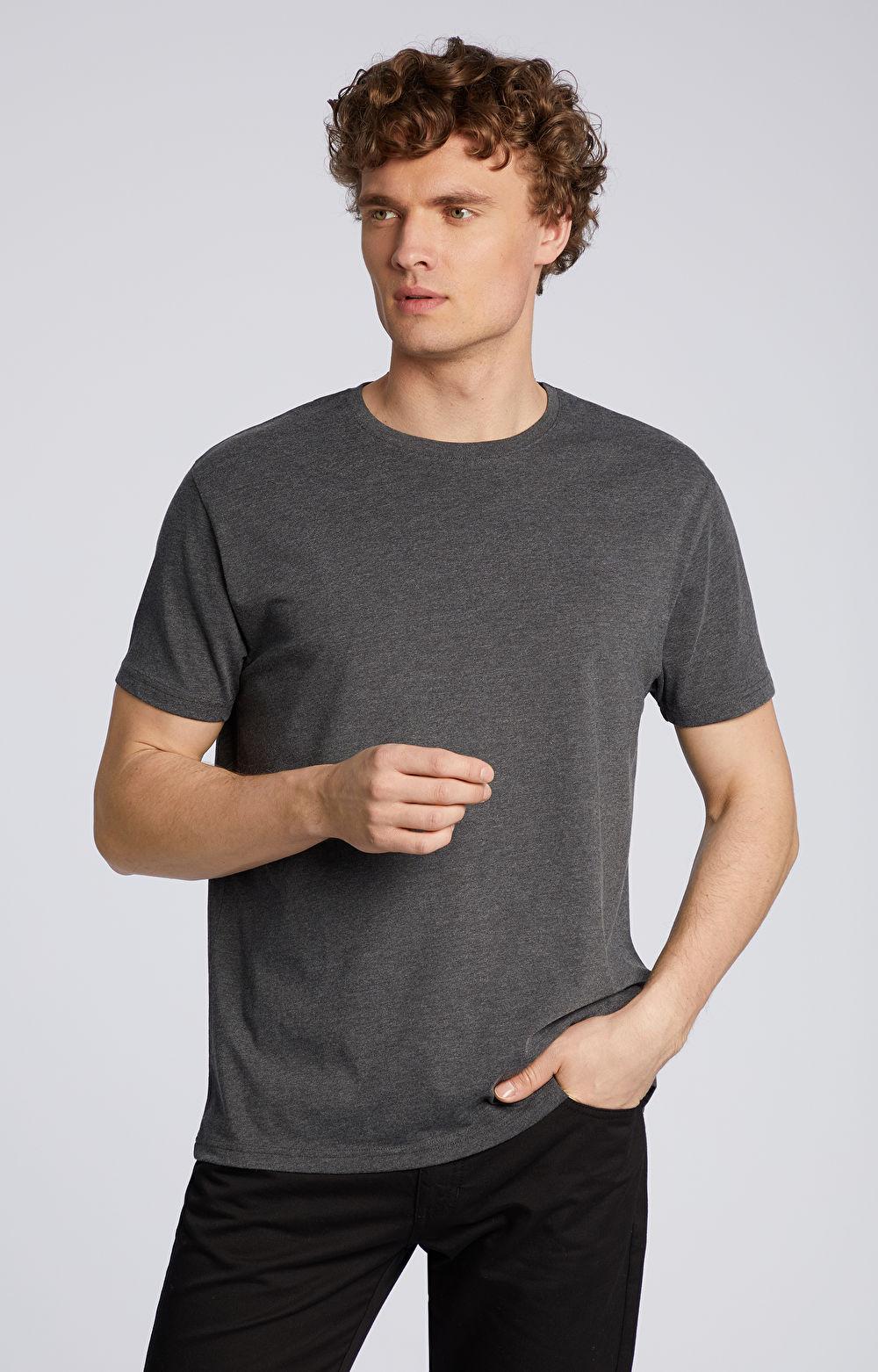 Melanżowy t-shirt z bawełną organiczną