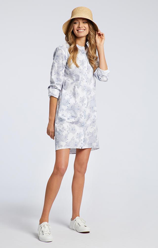 Biała koszula damska długa WÓLCZANKA