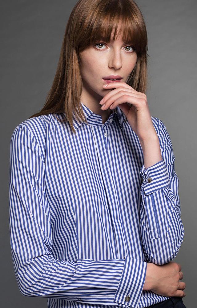 Granatowa koszula damska LAMBERT