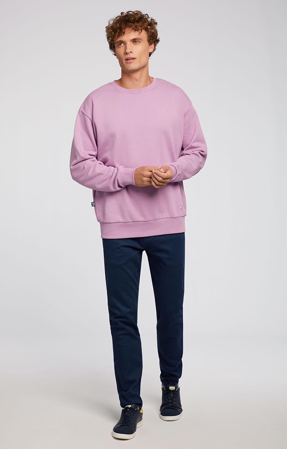 Granatowe jeansy WÓLCZANKA