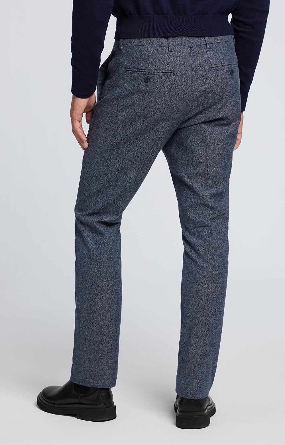 Bawełniane spodnie w kant
