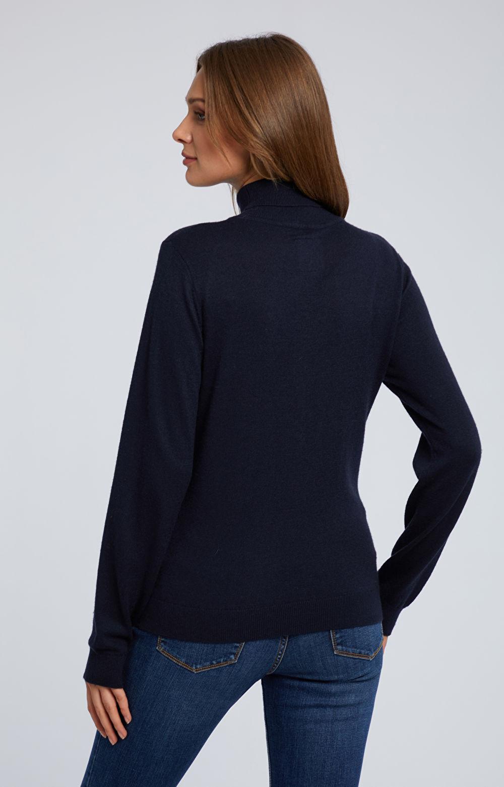 Sweter z golfem z wełną merino i kaszmirem