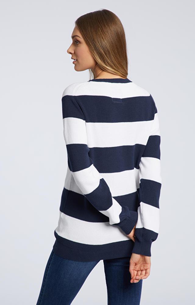 Granatowy sweter damski WÓLCZANKA