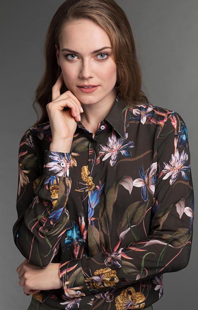 Ciemnozielona koszula damska LAMBERT