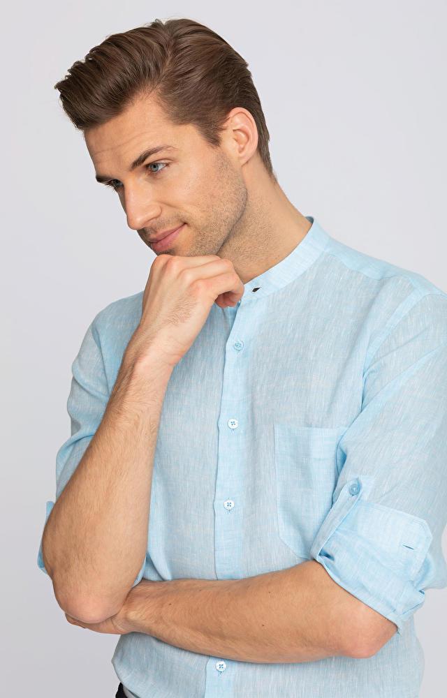 Turkusowa koszula WÓLCZANKA