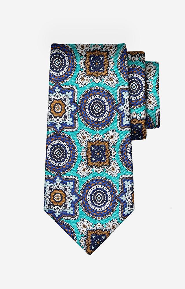 Turkusowy krawat LAMBERT