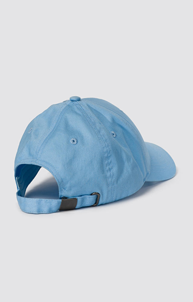 Niebieska czapka z daszkiem WÓLCZANKA