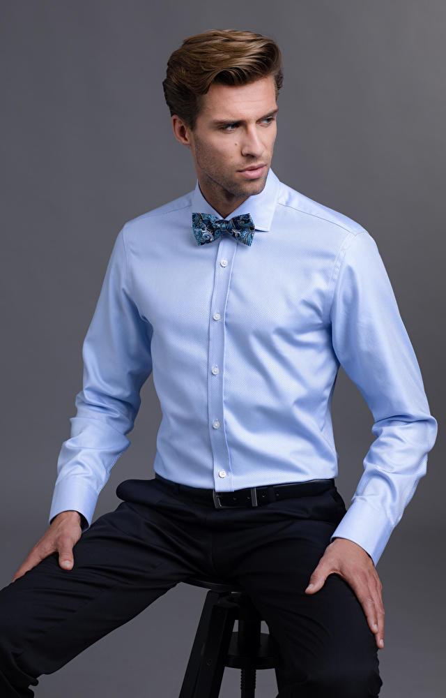 Niebieska koszula męska LAMBERT