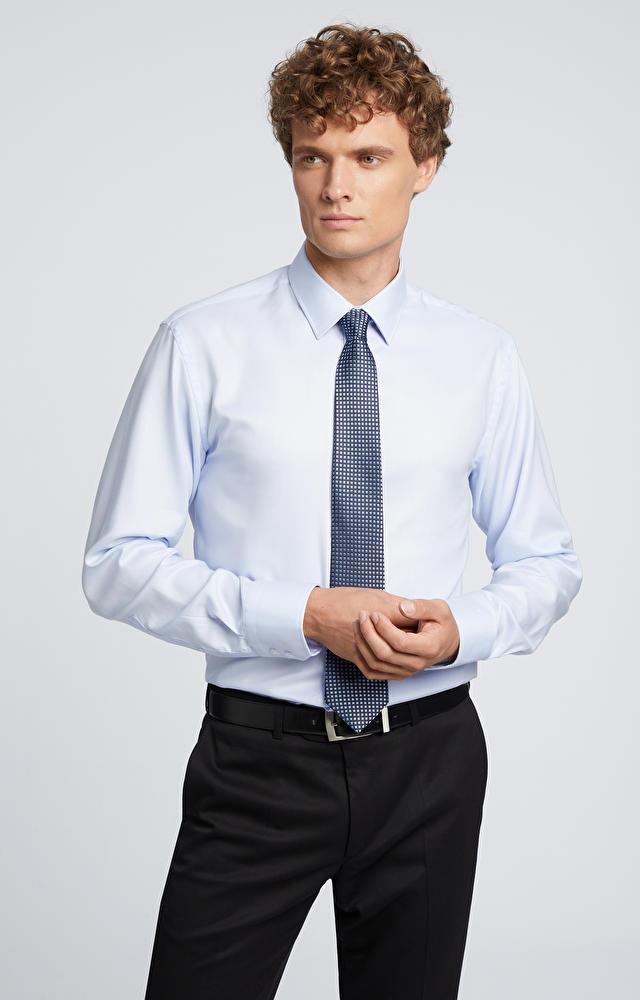 Koszula z bawełny easy care LAMBERT