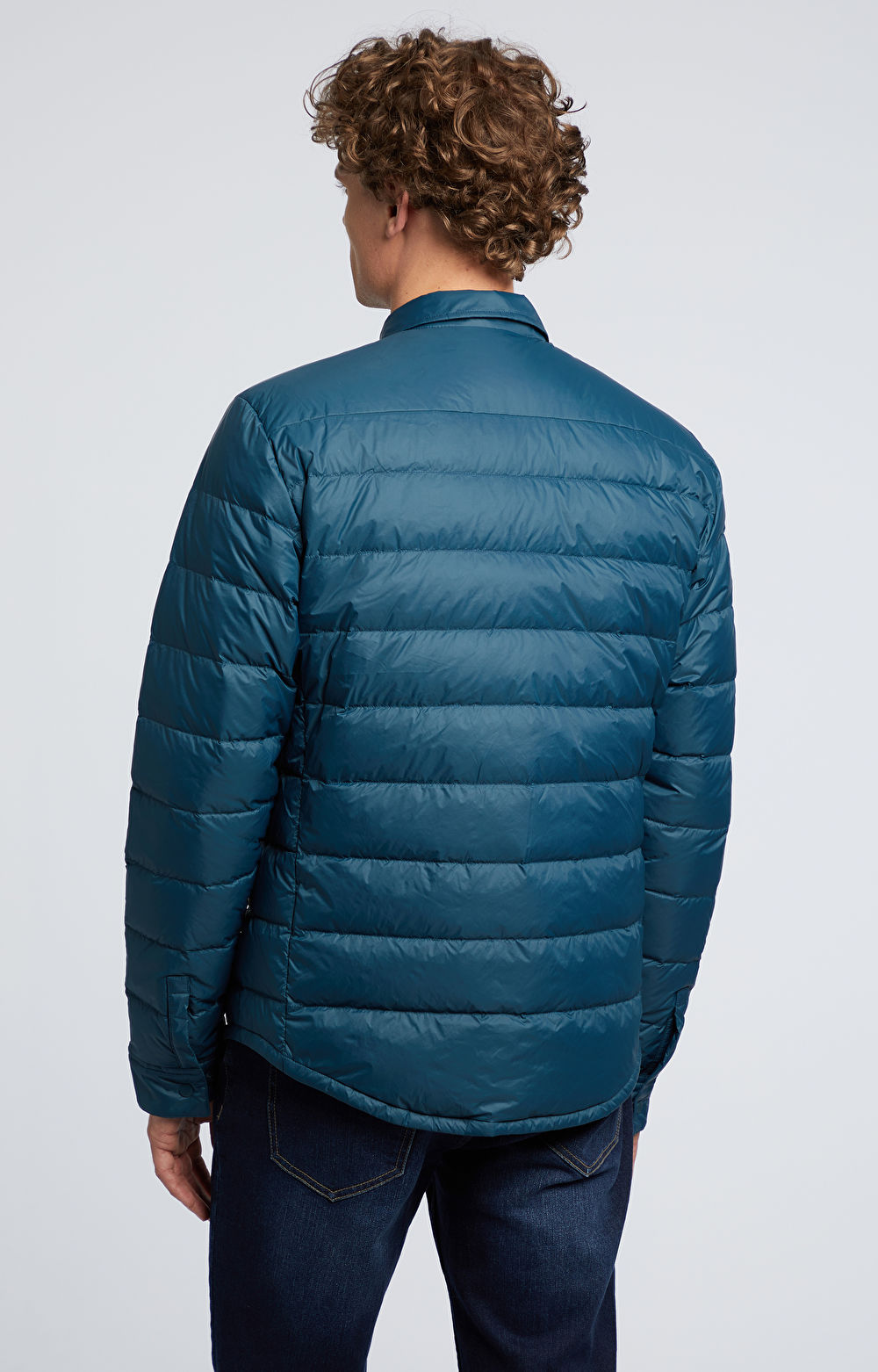 Pikowana kurtka z naturalnym puchem