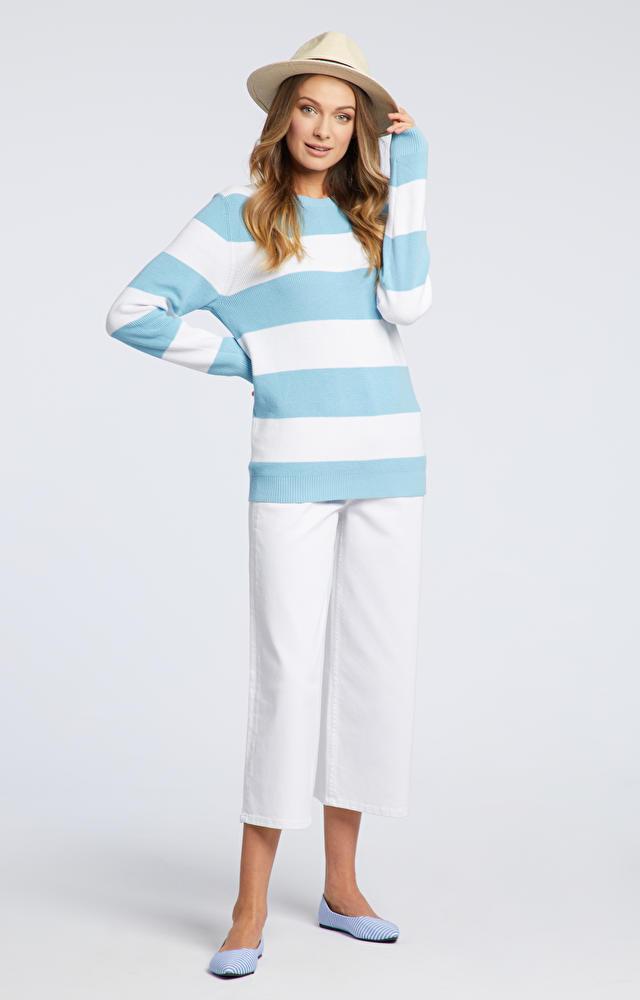 Niebieski sweter damski WÓLCZANKA