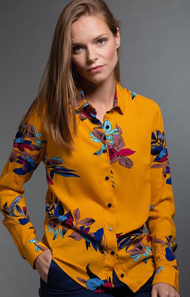 Pomarańczowa koszula damska LAMBERT