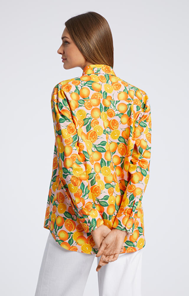 Pomarańczowa koszula damska WÓLCZANKA