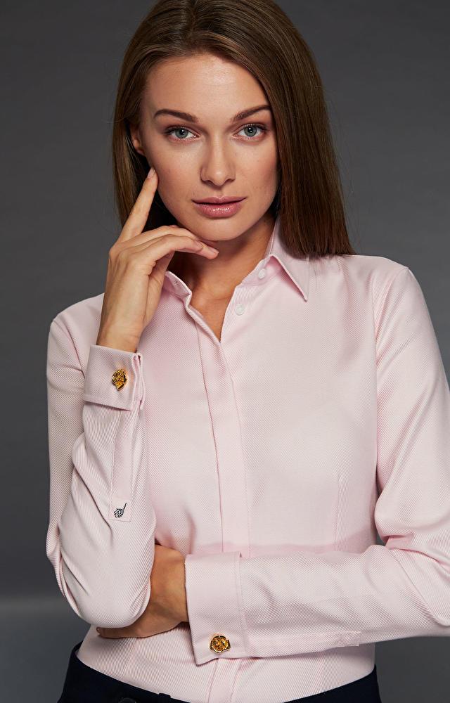 Różowa koszula damska LAMBERT