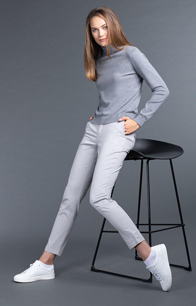 Szare spodnie damskie WÓLCZANKA