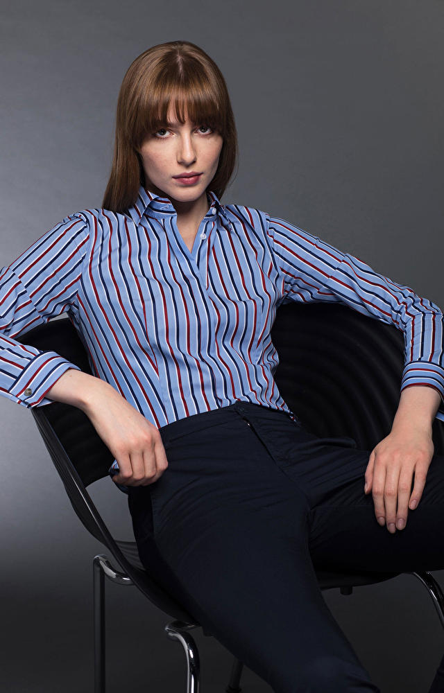 Niebieska koszula damska LAMBERT