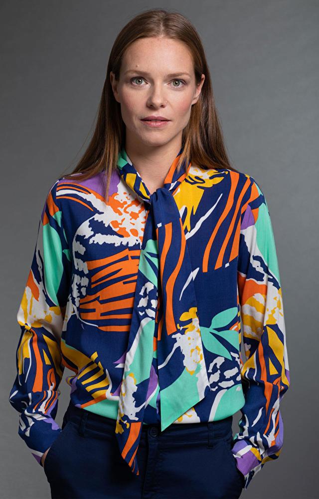 Wielokolorowa koszula damska LAMBERT