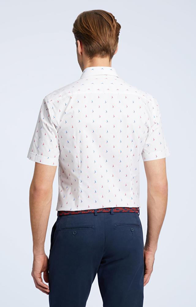 Biała koszula męska krótki rękaw WÓLCZANKA
